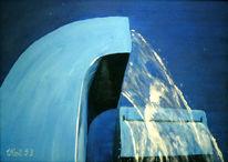 Wasser, Acrylmalerei, Brunnen, Blau