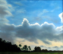 Gewitter, Wolken, Landschaft, Malerei