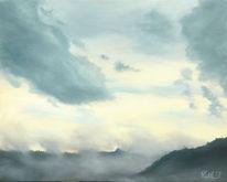 Ölmalerei, Regen, Landschaft, Wolken