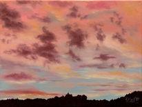 Himmel, Wolken, Landschaft, Abendrot