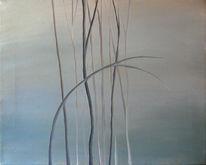 Stille, Malerei, Grau, Landschaft