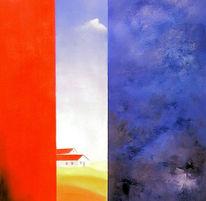 Abstrakt, Malerei, Landschaft, Himmel