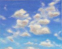 Wolken, Landschaft, Acrylmalerei, Malerei