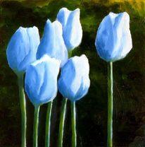 Blumen, Frühling, Tulpen, Ölmalerei