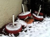 Winter, Pause, Fotografie, Schirmständer