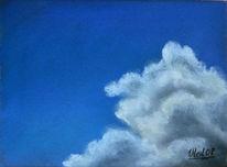 Himmel, Landschaft, Pastellmalerei, Malerei
