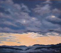 Stimmung, Wolken, Morgen, Ölmalerei