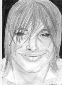 Lächeln, Portrait, Bleistiftzeichnung, Zeichnungen