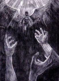 Zeichnen, Angel, Zeichnung, Licht