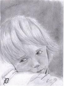 Zeichnung, Weinen, Traurig, Kind