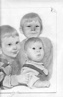 Zeichnung, Kids, Bleistiftzeichnung, Kind