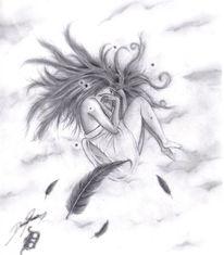 Angel, Engel, Zeichnen, Zeichnung