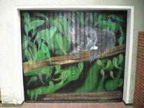Garagentor, Koala, Malerei