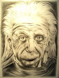 Bleistiftzeichnung, Portrait, Albert einstein, Zeichnungen