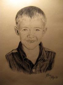 Portrait, Junge, Zeichnung, Zeichnungen