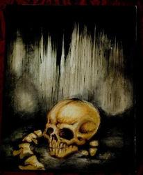 Schädel, Knochen, Malerei
