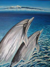 Delfin, Teneriffa, Figural, Malerei