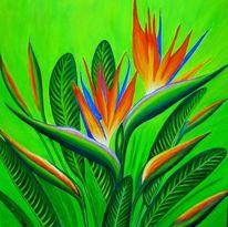 Blumen, Grün, Streizia, Malerei