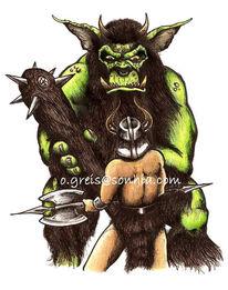 Troll, Greis, Zeichnung, Fantasie