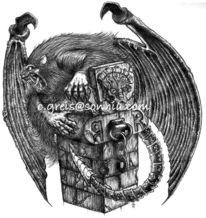 Greis, Fantasie, Zeichnung, Werwolf