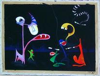 Versammlung, Monster, Malerei