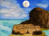 Meer, Brandung, Landschaft, Malerei