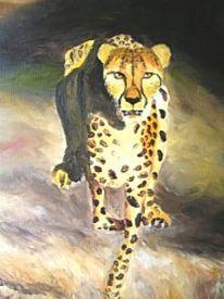 Tiere, Gepard, Ölmalerei, Malerei