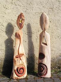 Skulptur, Kunsthandwerk, Holz, Wächter