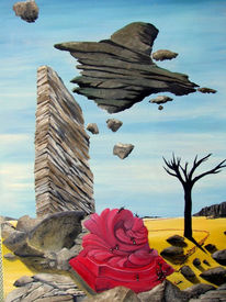 Malerei, Surreal, Bau