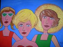 Frau, Naive malerei, Zeichnungen, Menschen