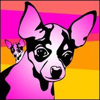 Hundeportrait, Hund, Design, Chihuahua