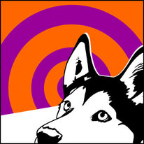Sibirisch, Pop art, Husky, Retro