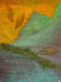 Natur, Malerei, Wald, Grün