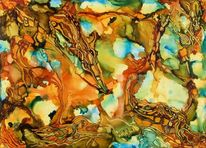 Farben, Hellblau, Malerei, Feuer