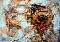 Pferd mephisto, Malerei, Stahl