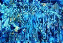 Blau, Signatur, Malerei, Sehnsucht