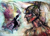 Surreal, Denker, Aquarell,