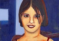 Gesicht, Portrait, Realismus, Mädchen