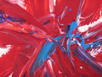 Malerei, Abstrakt, Leben, Ausschnitt
