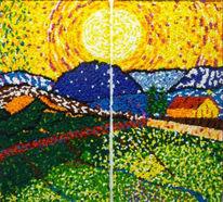Malerei, Interpretation, Sonnenaufgang, Freie