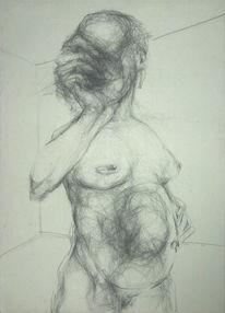 Surreal, Figurativ, Zeichnung, Akt