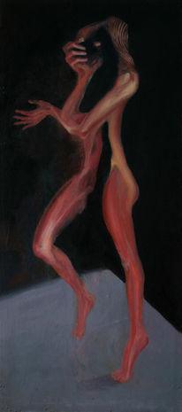 Surreal, Frau, Figurativ, Malerei