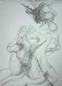 Figurativ, Zeichnung, Schwangerschaft, Frau