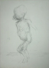 Akt, Figurativ, Zeichnung, Spielen