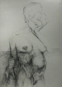Figurativ, Schwangerschaft, Surreal, Frau