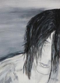 Haare, Mädchen, Frau, Acrylmalerei
