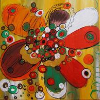 Abstrakt, Malerei, Blüte, Fröhlichkeit
