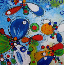 Pflanzen, Malerei, Blumen, Schmetterling