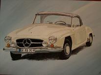 Acrylmalerei, Auto, Malerei, Figural