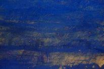 Blau, Abstrakt, Malerei, Text